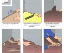 Как правильно укладывать ковролин