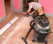 Подготовка различных поверхностей под укладку линолеума