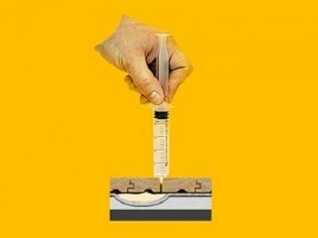 Устранение скрипа при помощи заливки клея