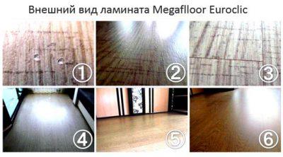 Внешний вид ламината Megaflloor Euroclic